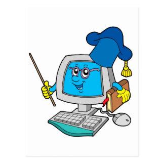 Computer teacher postcard