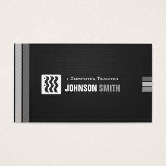 Computer Teacher - Urban Black White Business Card