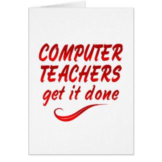 Computer Teachers Card