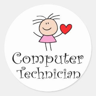 Computer Technician Classic Round Sticker