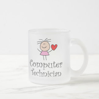Computer Technician Frosted Glass Coffee Mug