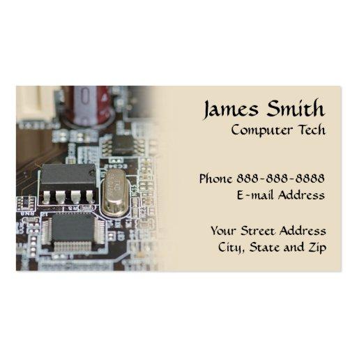 Computer Technician Programmer Business Card