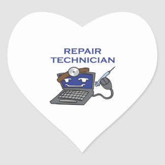 COMPUTER TECHNICIAN HEART STICKER