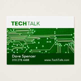 Computer Technician Tech Circuit Board chubby Business Card