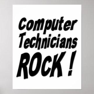 Computer Technicians Rock! Poster Print