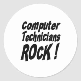 Computer Technicians Rock! Sticker