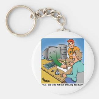 Computer / Technology Giftware! Basic Round Button Keychain