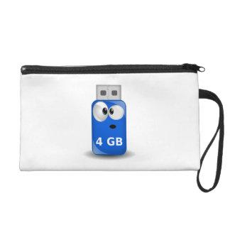 Computer USB Flash Drive Wristlet Purse
