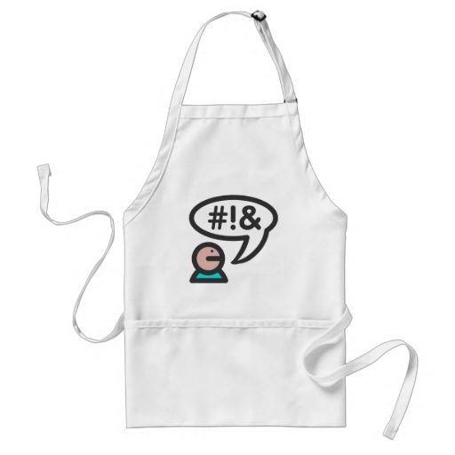 Computer User icon foul language Aprons