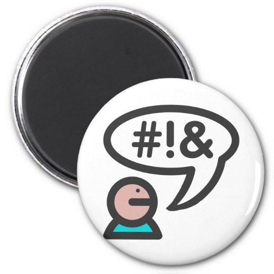 Computer User icon foul language Magnet
