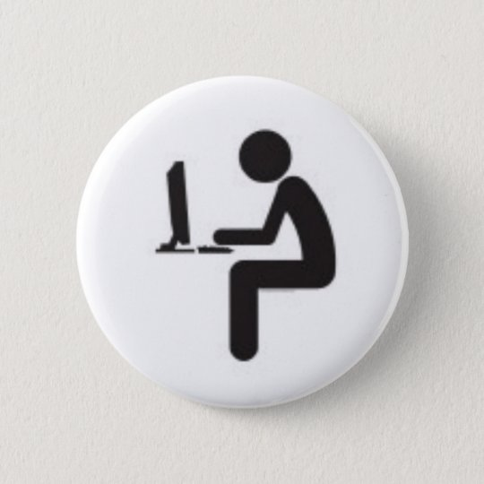 Computer User Icon Pinback Button