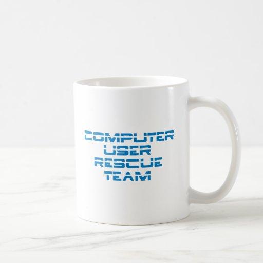 Computer User Rescue Team Taza Básica Blanca