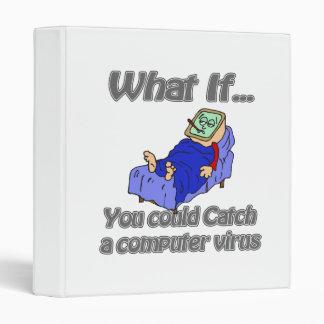 Computer Virus 3 Ring Binder