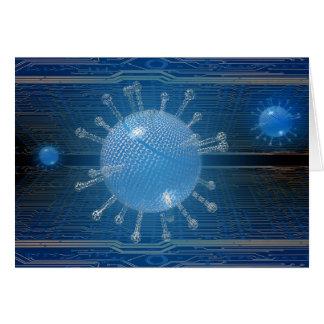 Computer virus greeting card