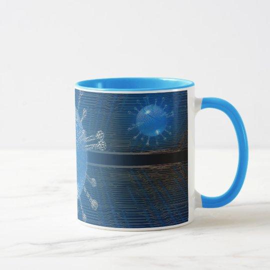 Computer virus mug