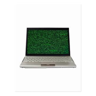 Computer virus postcard