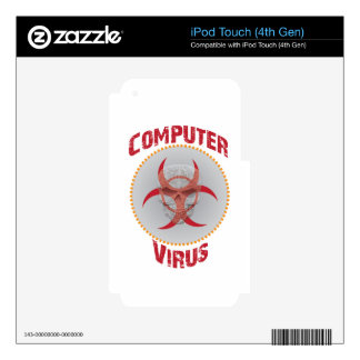 Computer Virus iPod Touch 4G Skins