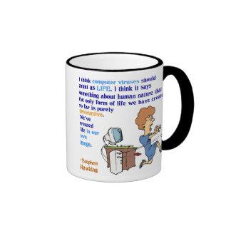 Computer Viruses are Alive (1) Ringer Mug