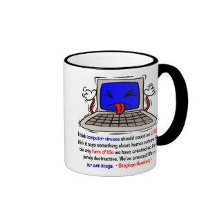 Computer Viruses are Alive (2) Ringer Mug