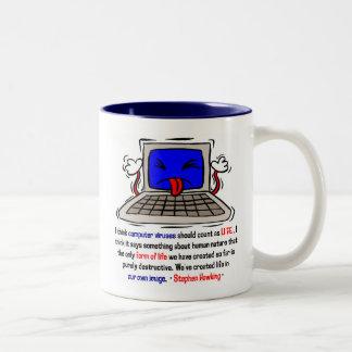 Computer Viruses are Alive (2) Two-Tone Coffee Mug