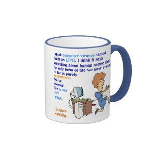 Computer Viruses are Life (1), Computer Viruses... Ringer Mug