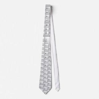 Computer White Keyboard Tie