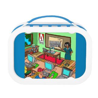 Computer whiz blue yubo lunch box by DAL