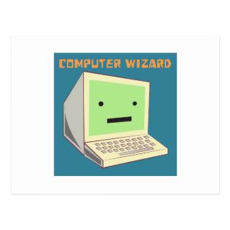 Computer Wizard Postcard