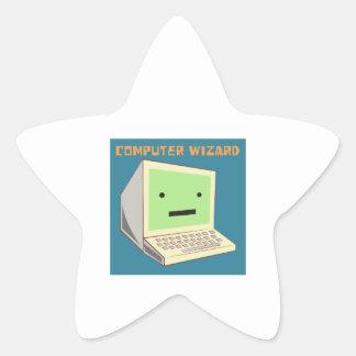 Computer Wizard Star Sticker