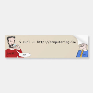 Computering Logo Bumper Sticker