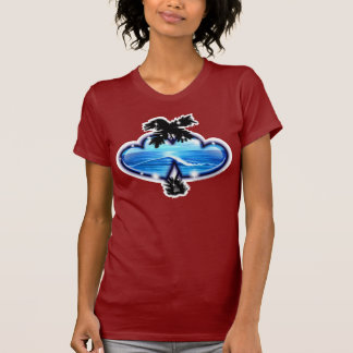 Computerized Digital Airbrushed Beach Scene T-Shirt