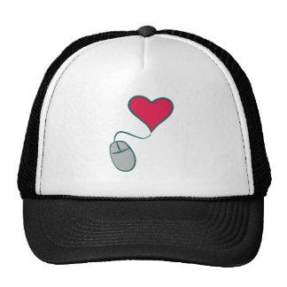 Computermaus Herz computer mouse heart Baseballmützen