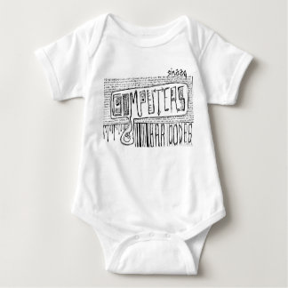 Computers and Bar Codes Baby Bodysuit