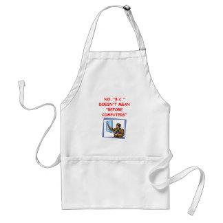computers adult apron