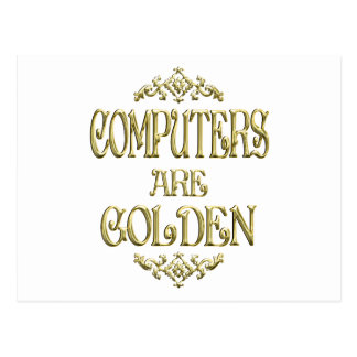 COMPUTERS are Golden Postcard