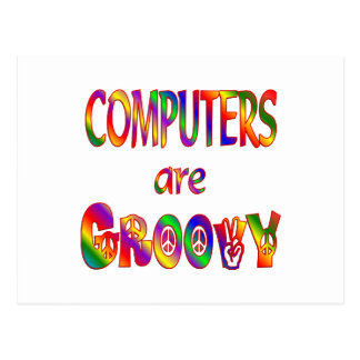 Computers are Groovy Postcard