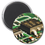 Computers Chips Circuits 2 Inch Round Magnet
