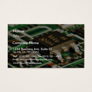 Computers Chips Circuits Business Card