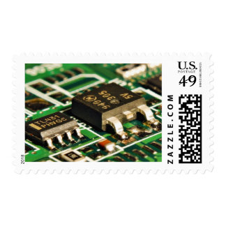 Computers Chips Circuits Stamp