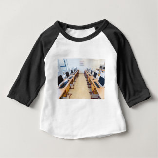 Computers in classroom of dutch education baby T-Shirt