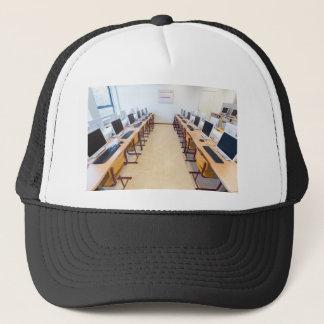Computers in classroom of dutch education trucker hat