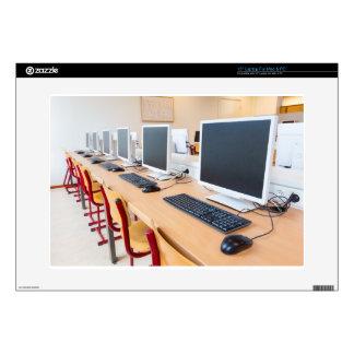 "Computers in classroom on high school 15"" laptop skin"