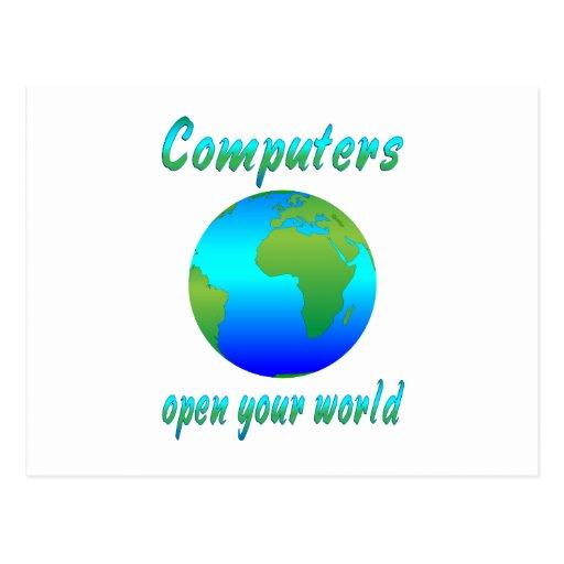 Computers Open Worlds Postcard