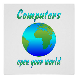 Computers Open Worlds Print