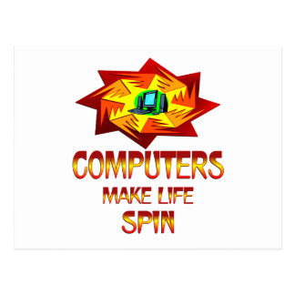 Computers Spin Postcard
