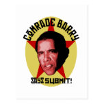 Comrade Barry Says SUBMIT Postcard