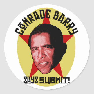 Comrade Barry Says SUBMIT Sticker