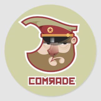 Comrade Classic Round Sticker
