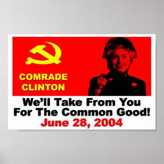 Comrade Clinton Print
