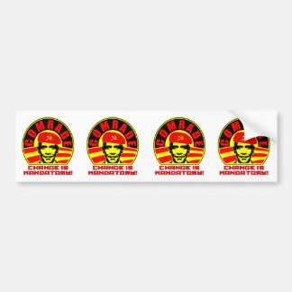 Comrade Obama 4 Stickers (cut) Car Bumper Sticker
